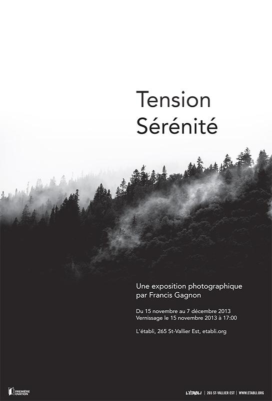 Tension – Sérénité : Une exposition à L'Établi du 15 novembre au 7 décembre 2013