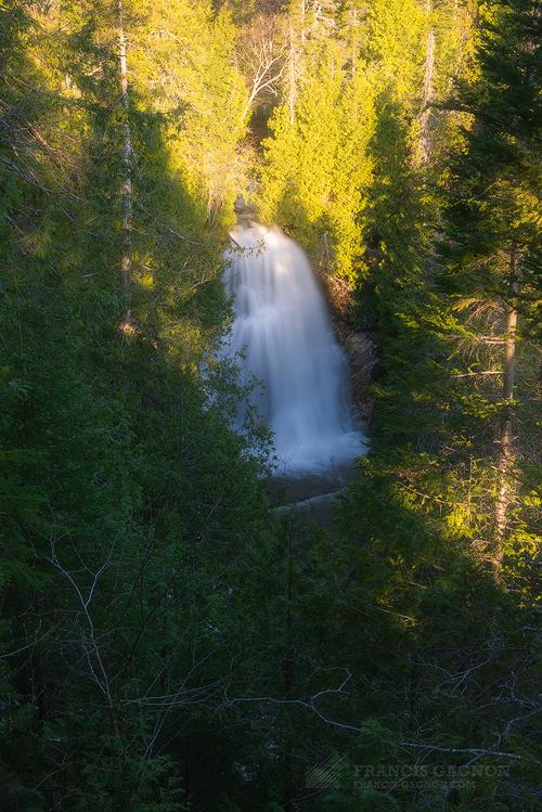 La chute du Parc National Forillon.