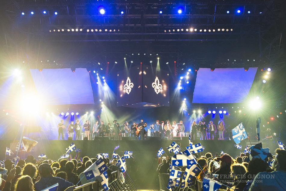 Le spectacle de la Fête nationale du Québec dans la Capitale © Francis Gagnon