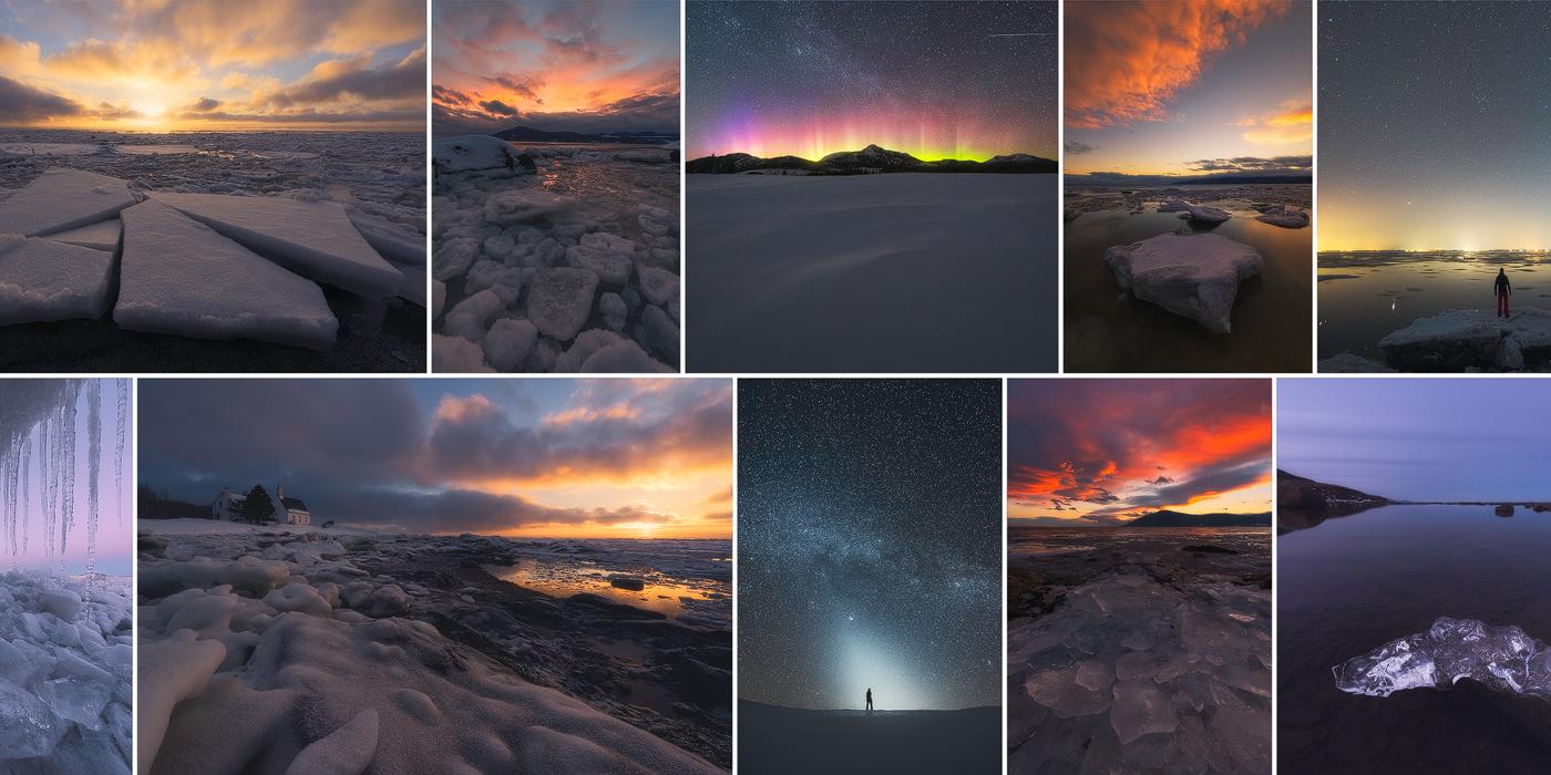 Des montagnes, au fleuve, en passant par les villes et villages : un retour photographique sur l'hiver 2016-2017