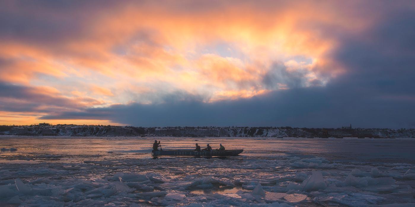 À la dérive : photographier le canot à glace