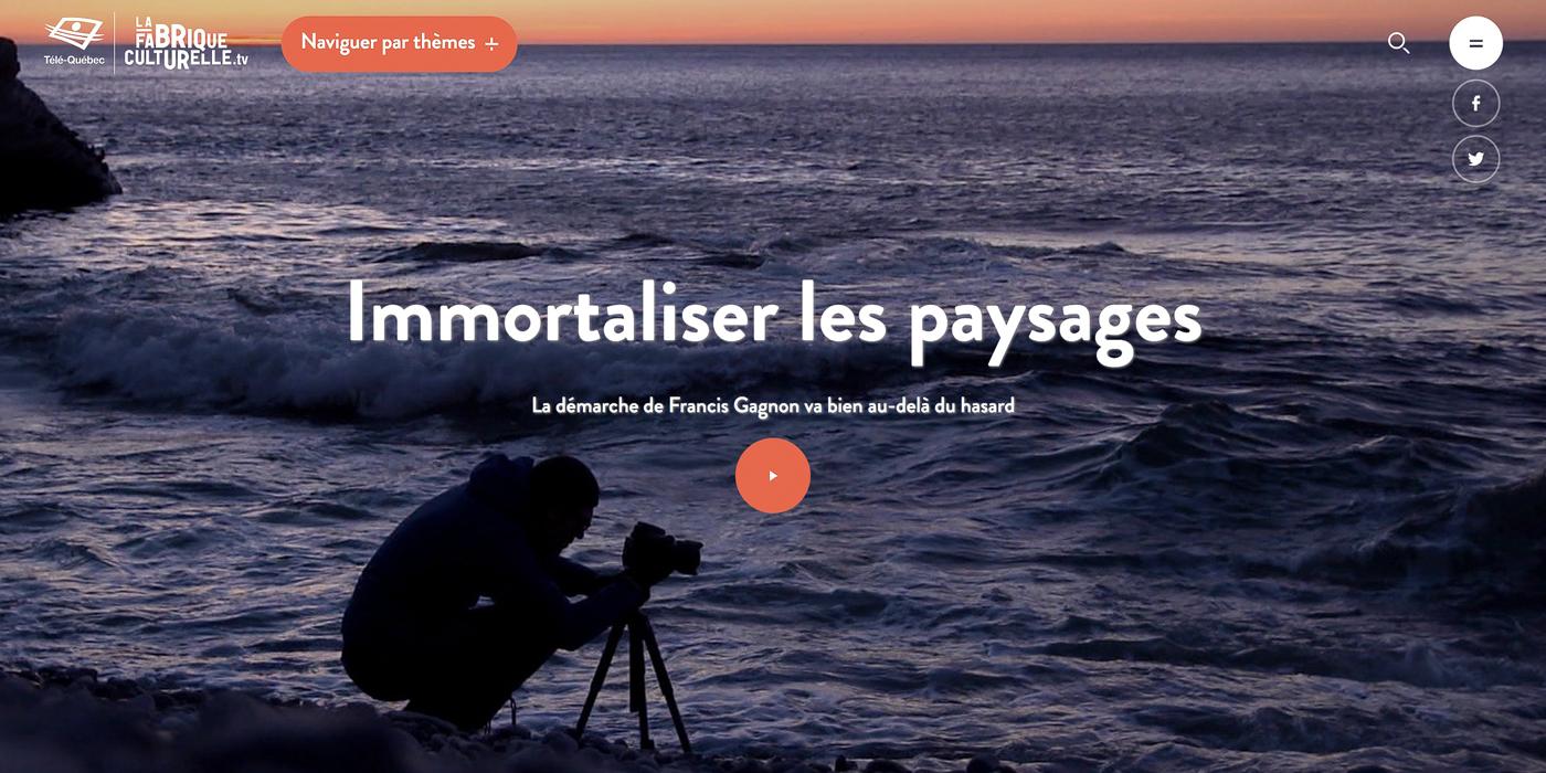 «Immortaliser les paysages : La démarche de Francis Gagnon va bien au-delà du hasard»