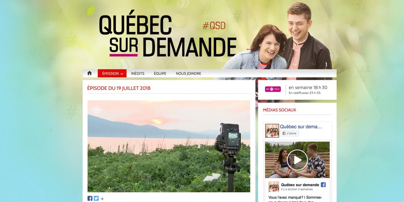 Les paysages de Charlevoix à l'émission «Québec sur demande»