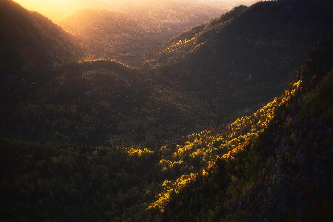 parc national des grands-jardins, québec, canada, automne, montagne, photo, paysage