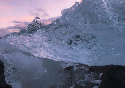 Les montagnes de glace